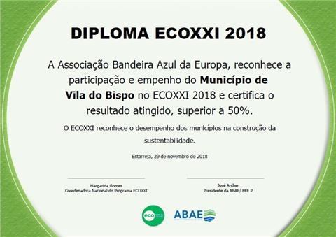 Vila do Bispo distinguida com a Bandeira Verde ECO XXI 2018